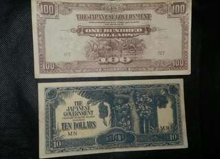 Duit lama (jim) 10$ 100$ 2pcs