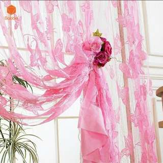 Butterfly tassle curtain
