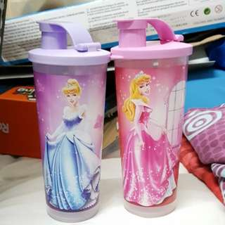 Tupperware Disney Princess Tumbler × 2