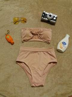 Ribbon Tube Bikini ( two piece )