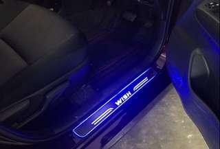 Toyota Wish LED Scuff Plate