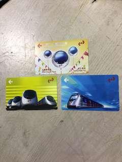 九廣鐵路KCR絕版車票三款