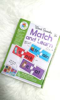 Match and learn card with sound book