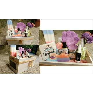 Curated gift set (Spa in a basket)