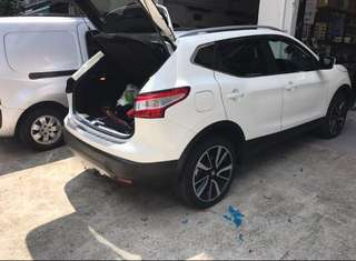 Nissan Qashqai Boot premium scuff plate extended length and thicker 2014-2018