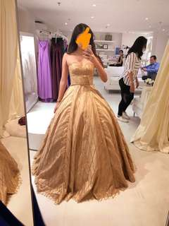Champagne Gold Prom Dress/Ball Gown for Rent
