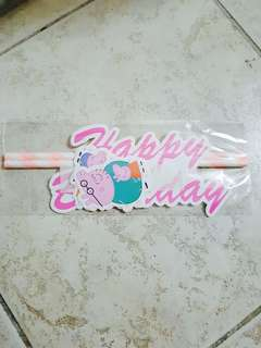Peppa Pig Cake Topper   Happy Birthday