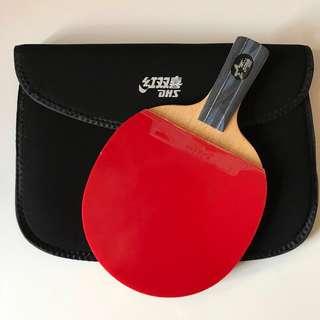 全新100% 紅雙喜五星乒乓球拍 型號 5007