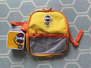 Pediasure backpack and Tupperware