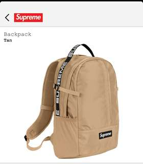 Supreme SS18 Backpack (TAN)