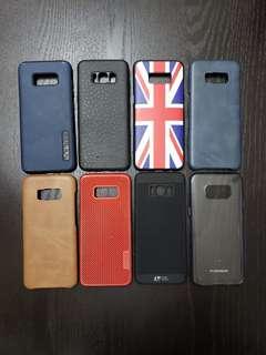 8pcs.Samsung S8 back cases