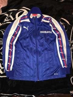古著 日本製 Puma 電繡LOGO 串標 緞面 亮面 線條 立領 休閒外套 運動外套