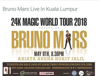 BRUNO MARS 24K CONCERT LIVE IN MALAYSIA