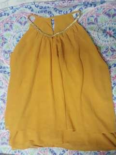 flowy elegant yellow top