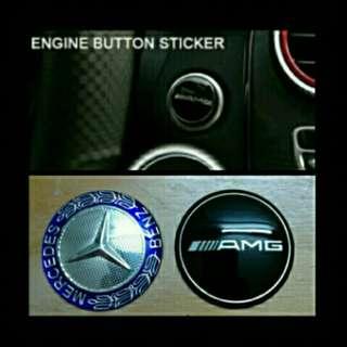 Mercedes push start emblem