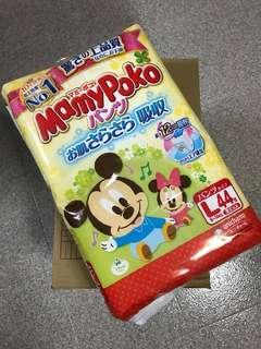 Mamy Poko L size Pants Mickey Mouse (Japan Domestic Version) 44pcs/pack x 3 packs
