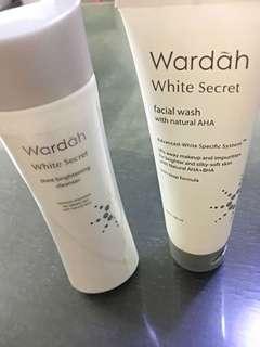 Wardah facial wash & pelembab whitenning