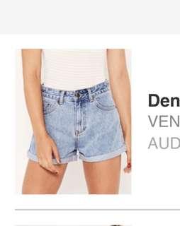 Glassons denim mom shorts