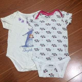 GET 2 BABY GIRL ONESIE