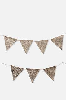 Glitter Gold Bunting Flags