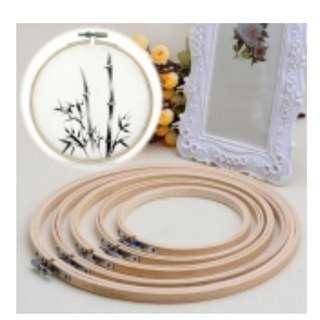 Bamboo Cross Stitch, Machine Embroidery Hoop Ring 10cm 15cm 17cm 20cm 26cm 30cm 34cm