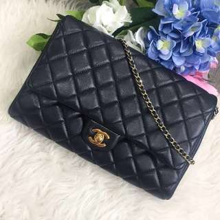 ❌SOLD!❌ Superb Deal!🖤 Chanel clutch on chain in Black Caviar GHW