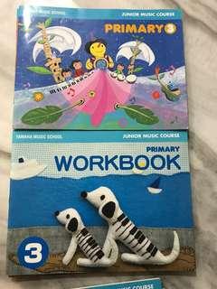 Yamaha Junior Course Book 3 and workbook