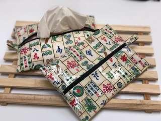 Mahjong Travel Tissue Pouch