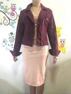 Unknown brand burgundy/maroon jacket