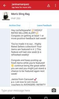 Yay! 3rd consecutive week. Thanks Carousell!💞