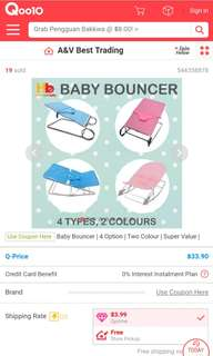 Blue baby bouncer