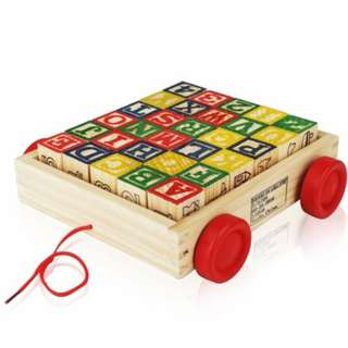 Educational Toys Toddlers Baby Activity ABC Developing Wood Block