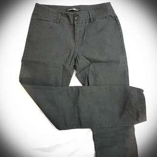 Low Waist Dark Grey Slim Long Pants