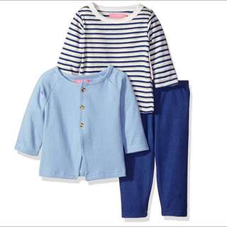 SALE 70% Off - 18 Mths BNWT Isaac Mizrahi baby girls 3pc set