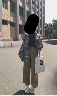 ❗️降❗️韓國學院風格紋襯衫外套