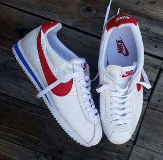 Nike cortez forrest gump white red original