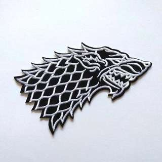 Game of Thrones Stark Logo Iron On Patch
