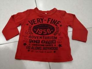 Red Long Sleeve Top (1-2y)