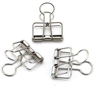 instock! - Silver Mini Binder Clips