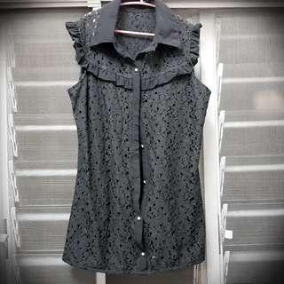 Lace Sleeveless Blouse/ Top/ Baju