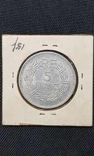 5 francs France