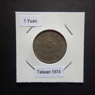 1 Yuan 1974 in coin holder