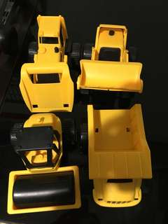 Lot of 4 Construction Vehicle Kid Toddler Toys Digger Dump Truck Toys