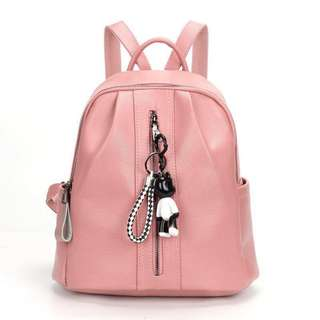 Fashion Korean Backpack Pink High Quality