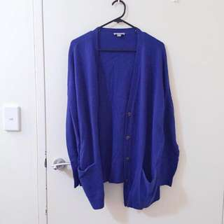 COS royal blue cardigan