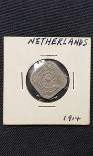 1914 Netherlands Coin