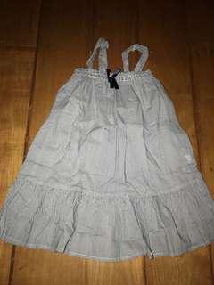 H&M 2-3y Navy Pinstripe Long Flowy Summer dress