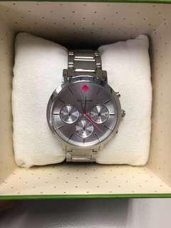 Kate Spade New York Ladies Gramercy Grand Silver Steel Bracelet Watch