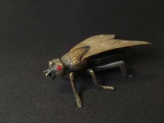 青銅烏蠅擺設 藝術 手工  Bronze fly decoration art storage antique handicraft handmade art