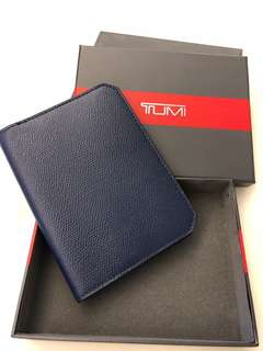 Tumi Indigo Blue Passport Cover